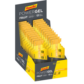 PowerBar PowerGel Fruit Box 24x41g, Mango-Passion Fruit with Caffeine